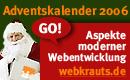 webkrauts adventskalender 2006