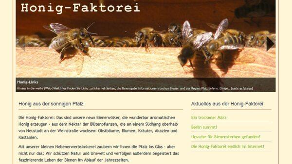 Screenshot mit Bienen