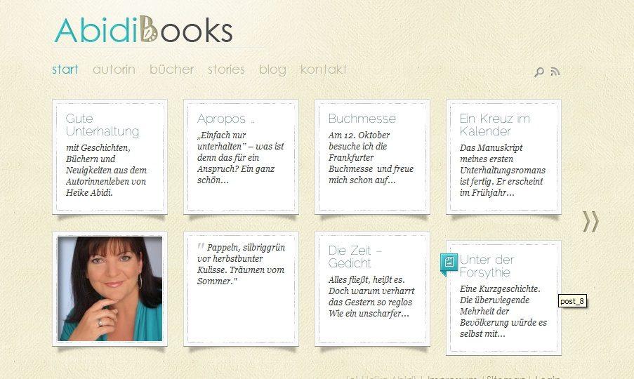 Autorinnen-Website online: AbidiBooks