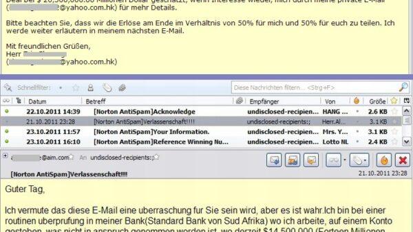 Screenshot Mailprogramm