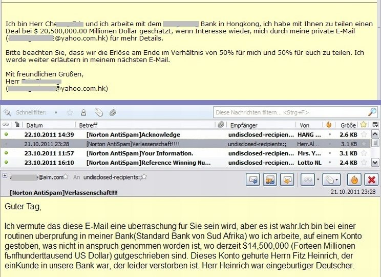 Screenshot Mailprogramm