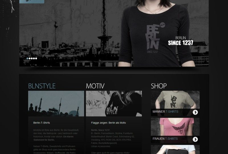 Neue Website: der T-Shirt-Shop blnstyle.de