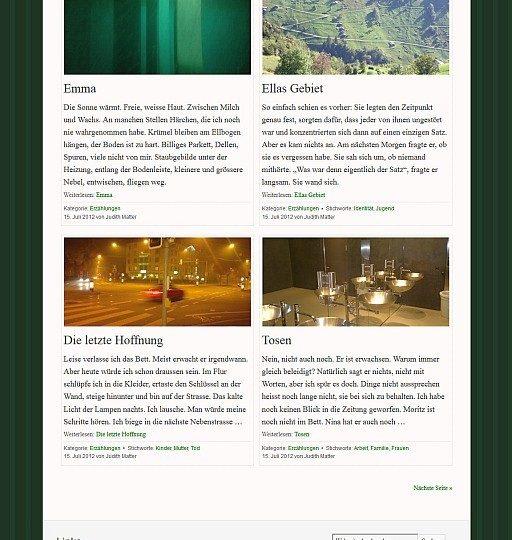 Neue Website für die Schweizer Autorin J. Matter