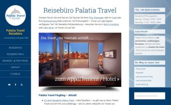 Website Reisebüro