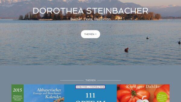 Dorothea Steinbacher Website Screenshot