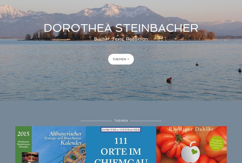 Dorothea Steinbacher Website Screenshot