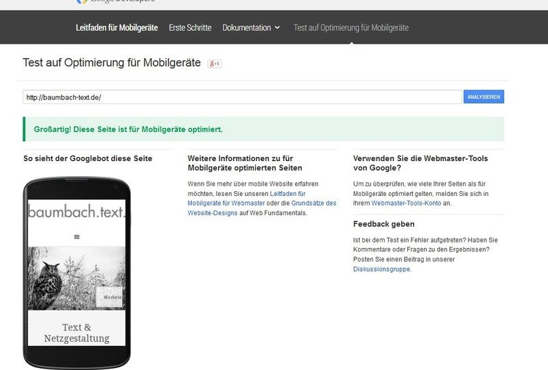 screenshot mobile text google baumbach-text.de