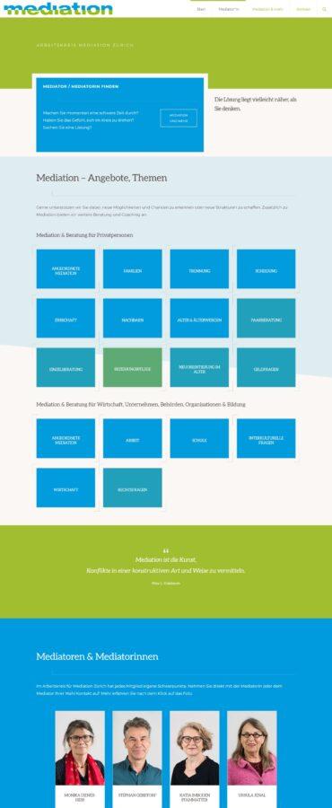 mediation.ch Startseite Screenshot