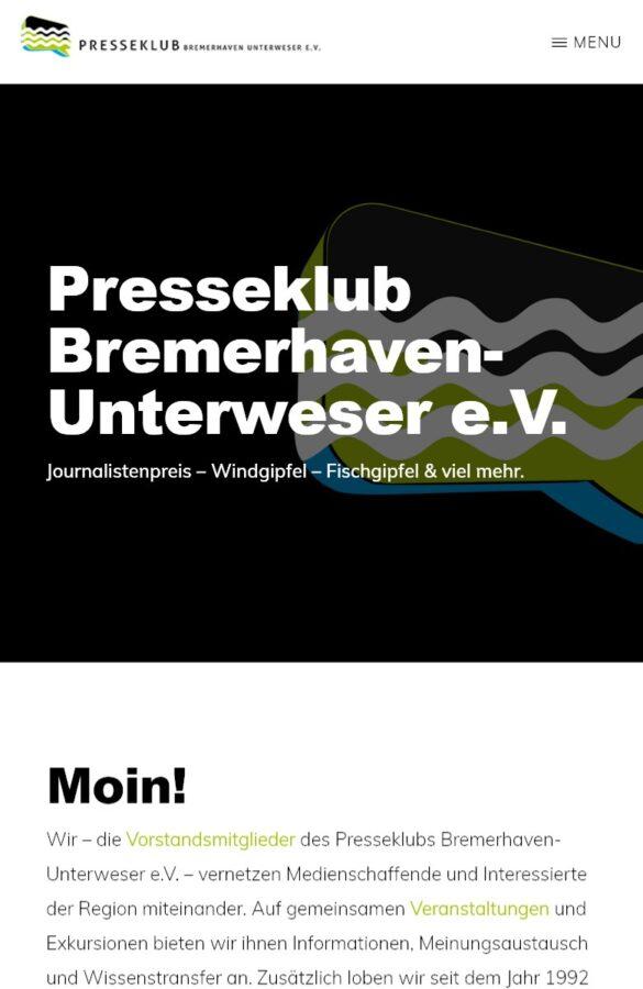 presseklub screenshot startseite